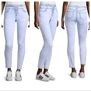 Blue Spice Acid Wash Skinny Jeans